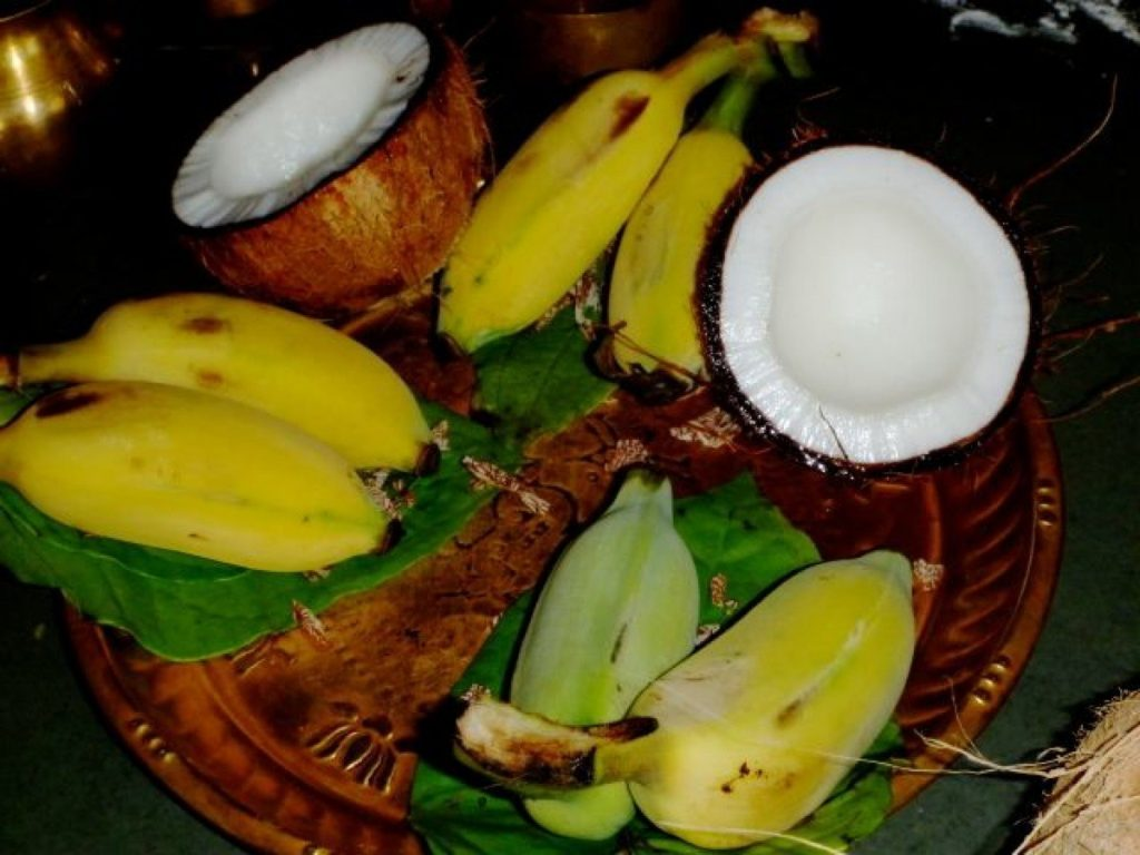 Bananas kept as offering