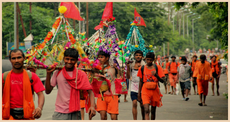 Appearance and Involvement of Kanwar Yatra