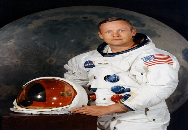 Astronaut Neil Armstrong in 1969, the year of his trip to the moon