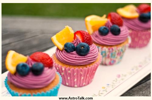 Aquarius (20th January to 18th February) - Sangria Cupcakes