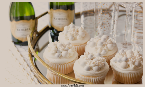 Gemini (21st May to 20th June) - Bubbly Champagne Cupcakes