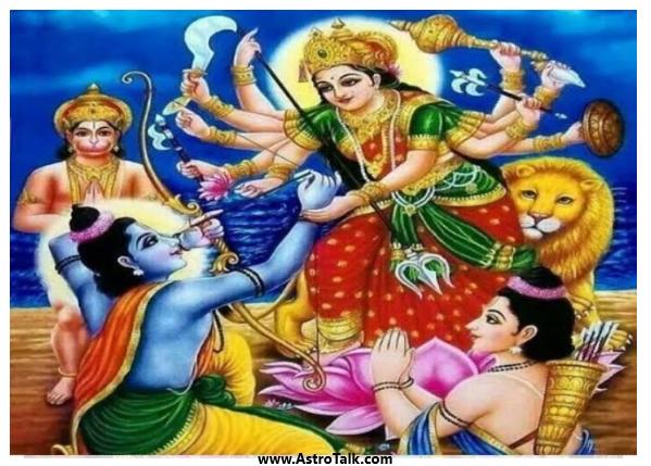 Durga & Lord Rama