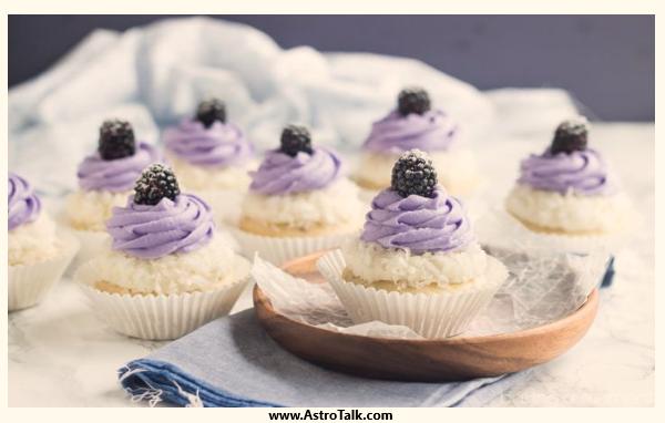 Sagittarius (22nd November to 21st December) - Blackberry Coconut Cupcakes