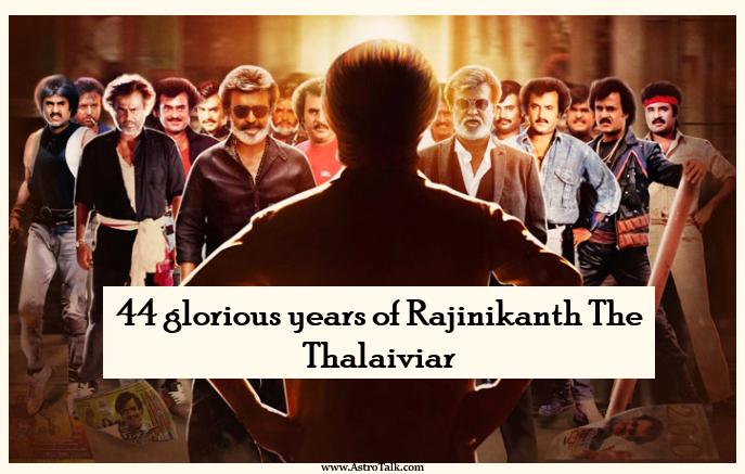 44 glorious years of Rajinikanth The Thalaiviar