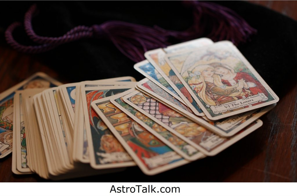 Tarot cards help in astrological predictions.