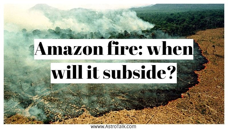 Amazon fire: when will it subside?