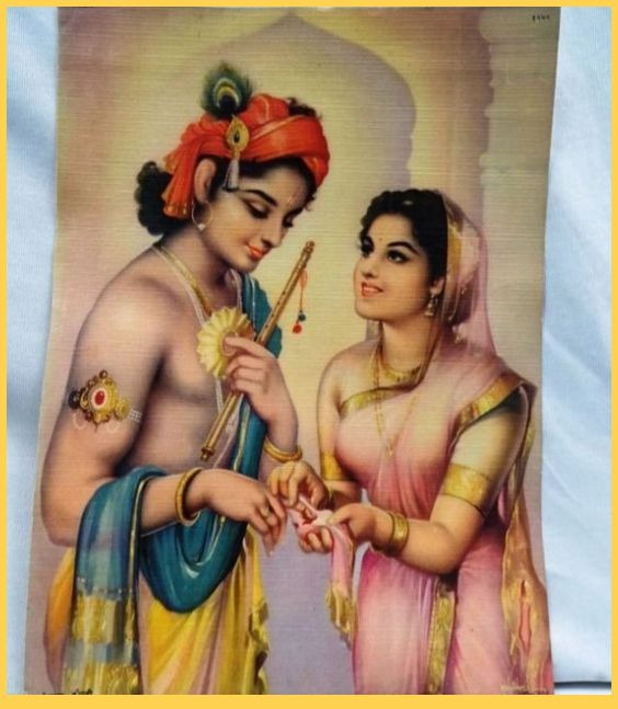 Krishna and Draupadi in Mahabharata