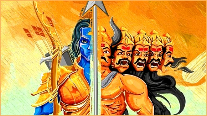 Ravana and Ram- Contrast and Theory