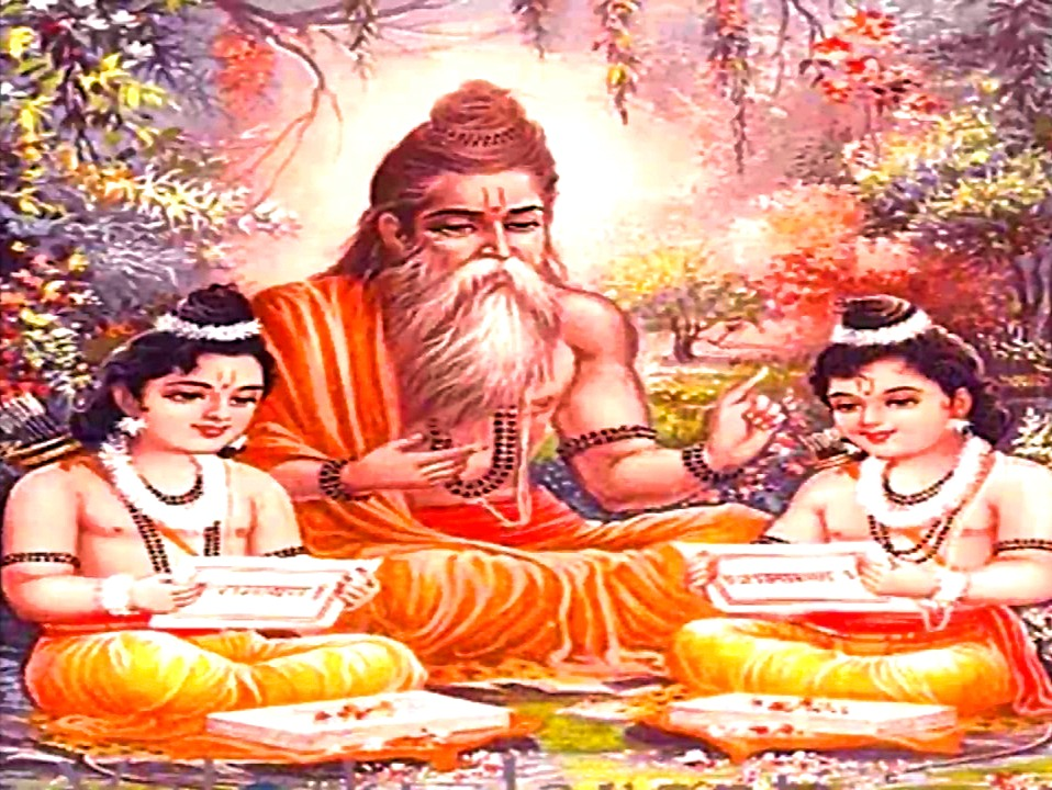 Valmiki Teaching Luv and Kush
