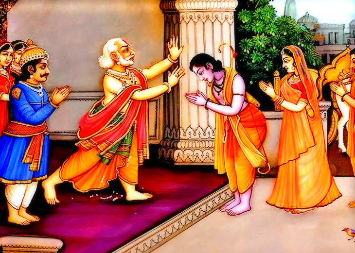 Rama and Dashrath