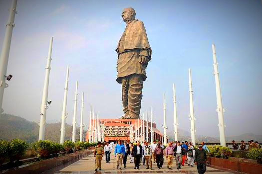visit to statue of unity