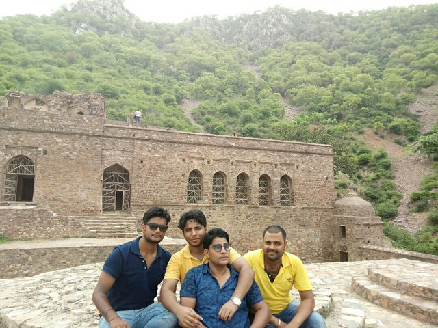 Me & my friends at Bhangarh Fort