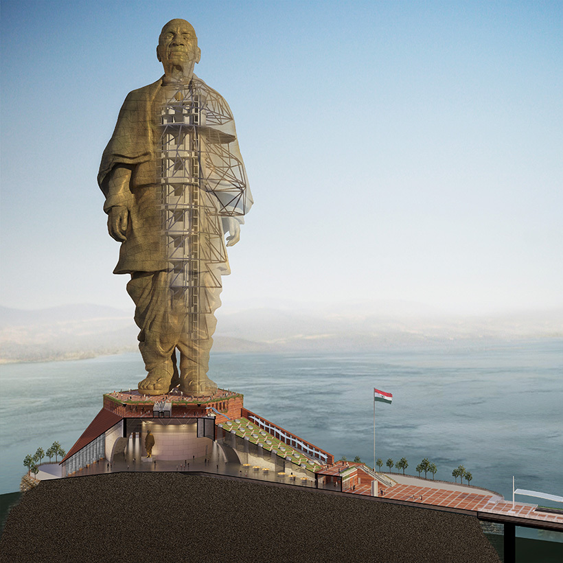 Statue of unity under construction