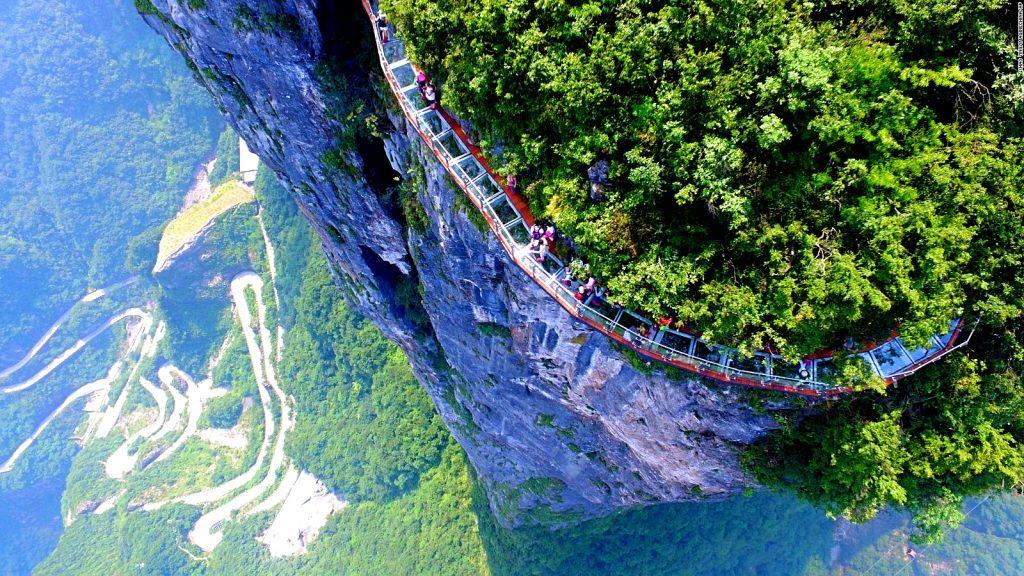 Skywalk in Tianmen Mountain, China