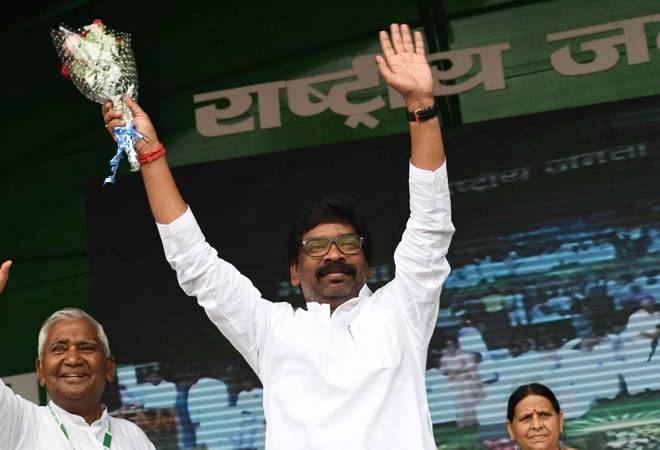 Jharkhand elections 2019- JMM-Congress Alliance Marches Above