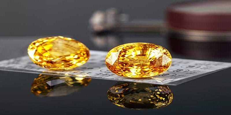 yellow sapphire and planet jupiter