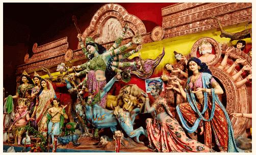 The nine forms of Goddess Durga